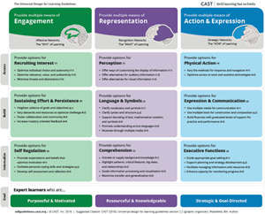 Image of the UDL Guidelines. Link to web version.