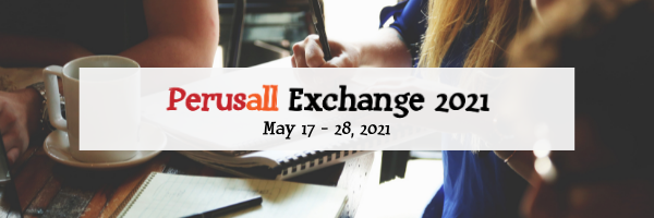 A banner with the information: Perusall Exchange 2021, May 17-28